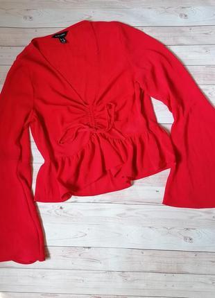 Шикарная блуза с воланами от new look