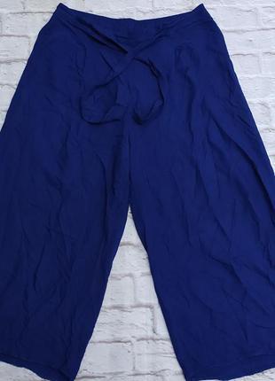Стильные кюлоты волошкового синего цвета бриджы шорты