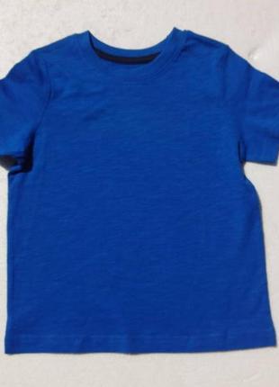 Lupilu. синяя футболка в чёрточку.