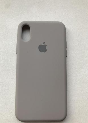 Чехол накладка silicone case для айфона iphone x/xs