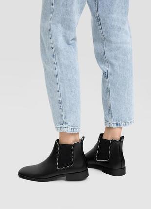 Базовые демисезон ботинки stradivarius