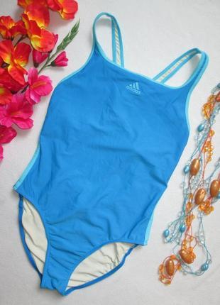 Фирменный сдельный спортивный купальник открытая спинка adidas оригинал.