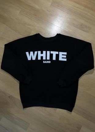 Чорний світшот white