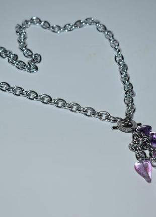 Шикарное ожерелье цепочка с подвеской муранское стекло antica murina вес 33,5 грамм