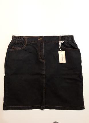 Фирменная стрейчевая джинсовая юбка