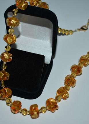 Шикарное мини колье вставки золото муранское стекло antica murrina вес 37,7 грамм винтаж
