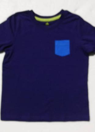 Lupilu. синяя футболка с кармашком.