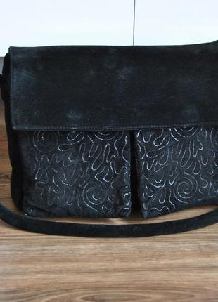 Кожаная сумка кроссбоди missoni / шкіряна сумка