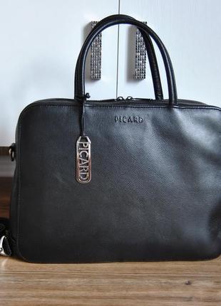 Кожаная сумка picard / кожаный портфель / шкіряна сумка