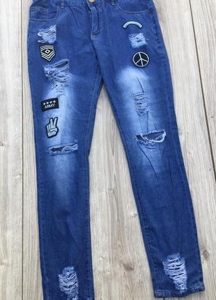 Jeans джинсы трендовые легкие