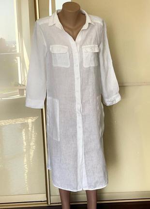 Льляное плать-рубашка max&co