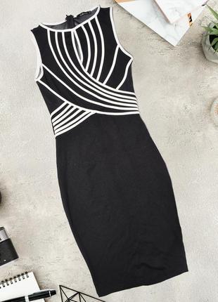 Облегающее платье с вставкой сетки kikiriki