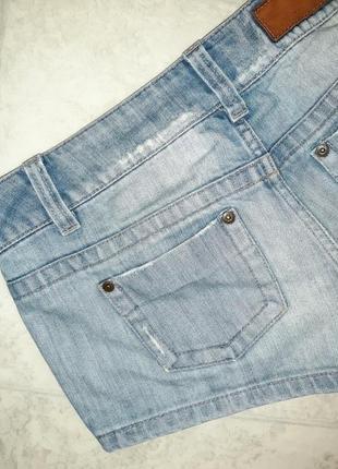 1+1=3 стильные короткие джинсовые шорты с вышивкой only, размер 44 - 464 фото