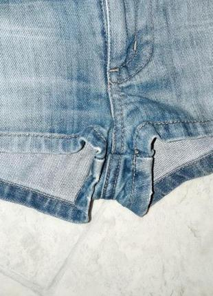1+1=3 стильные короткие джинсовые шорты с вышивкой only, размер 44 - 466 фото