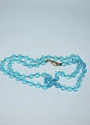 Шикарное ожерелье бусы чешское стекло вес 41,3  грамм винтаж