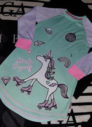 Ночнушка единорог ночная рубашка пижама туника платье фирма tu