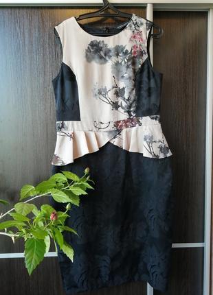 Шикарное, красивенное платье сукня цветы от dorothy perkins. 58%вискозы