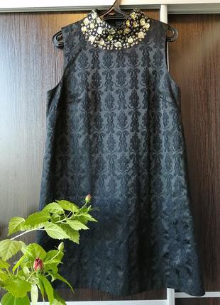 Шикарнейшее платье сукня цветы орнамент камни от next. 36%хлопка