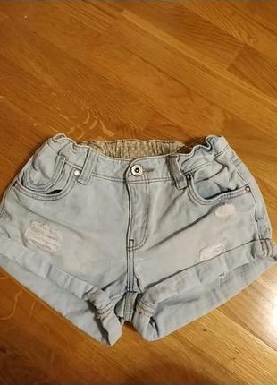 Шорти джинсові для дівчинки на 10-11 років