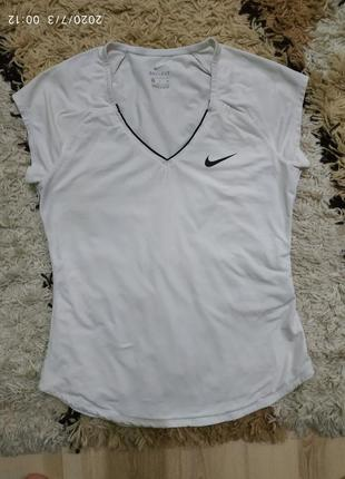 Брендовая cпортивная футболка nike dry fit , с-m
