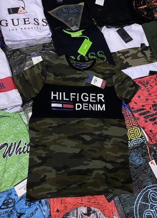 Мужская футболка милитари в стиле tommy hilfiger