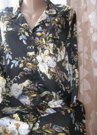 Атласный халат цветы от boohoo 14-размер