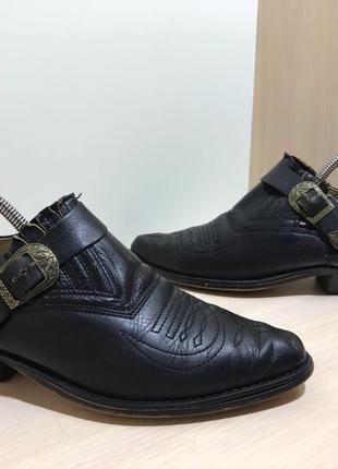 Мужские кожаные туфли козаки