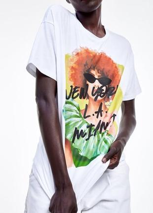 Новая женская футболка zara s m жіноча футболка zara s m