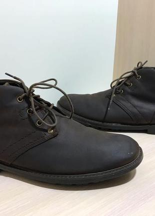 Мужские кожаные ботинки caterpillar