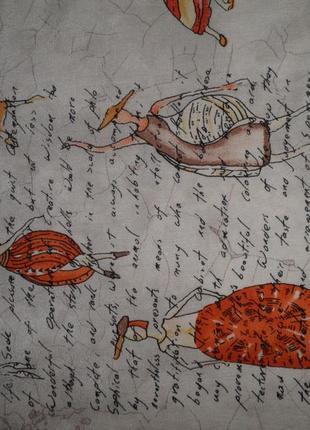 Шарф плотный шёлк креп де шин charlotte sparre конхилогия 160х35см шов роуль дания