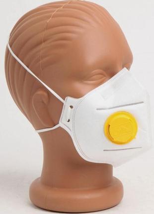 Респиратор ffp3 клапан высший класс защиты сделано в украине гост маска защитная поштучно1 фото