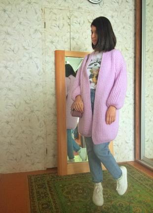 Кардиган,кофта,карди розовый зефир.