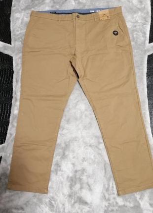 Мужские коричневые брюки f&f р. 3xl-4xl