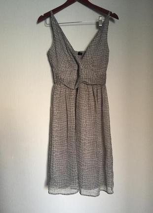 Воздушное платье принт рептилия