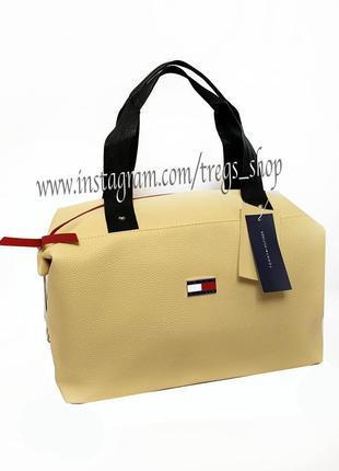 Новая милая повседневная сумка качественная pu кожа в стиле tommy / дорожная / шопер