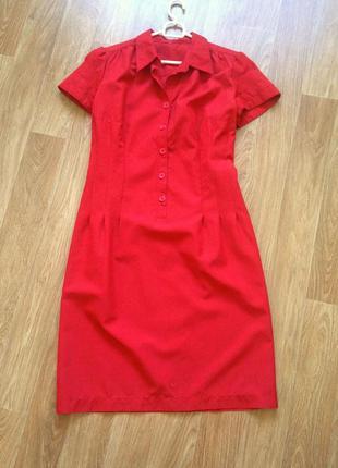 Яркое миди летнее платье рубашка футляр песочные часы летнее офисное нарядно повседневное