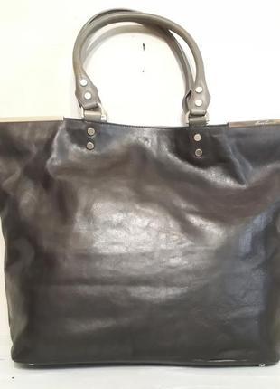 Большая стильная сумка шоппер kennet cole,100%кожа