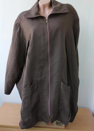 Льняной кардиган, пиджак в стиле бохо  niederberger