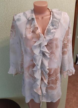 Блузка с воланами большой размер турция