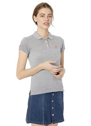 Женская футболка поло ,поло u.s polo assn оригинал