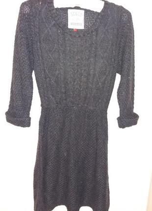 Стильное вязаное платье размер xs s