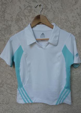 Спортивная белая тениска футболка акция для спорта, бега, фитнеса  adidas