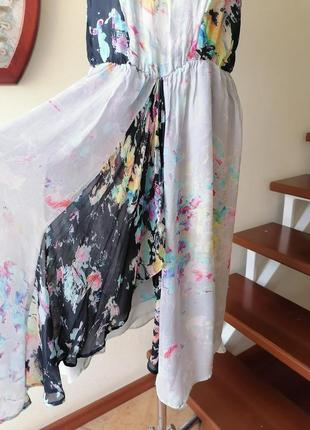 Шифоновое платье, сарафан, миди