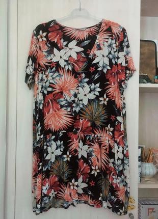 Платье принт летнее в цветочек