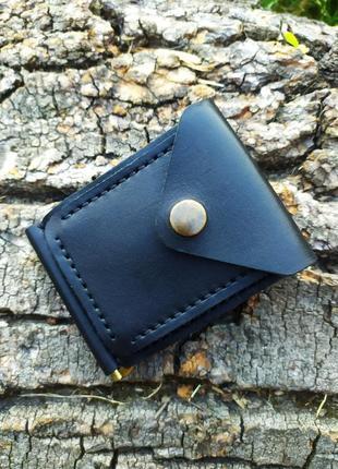 Кожаный кошелёк- зажим для денег