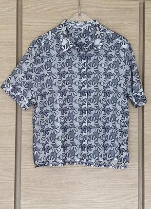 Батистовая блуза в вышитый принт премиум бренд германии globus размер 40-42