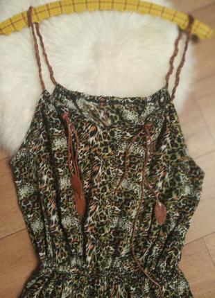 Легкое натуральное длинное платье сарафан в
