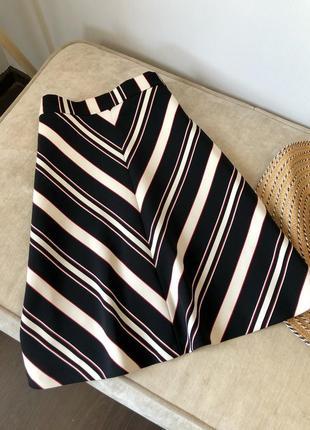 Идеальная юбка трапеция в полоску от zara