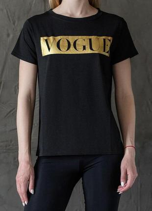 """Женская футболка """"vogue"""" black/gold"""