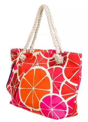 Удобная пляжная сумка с принтом